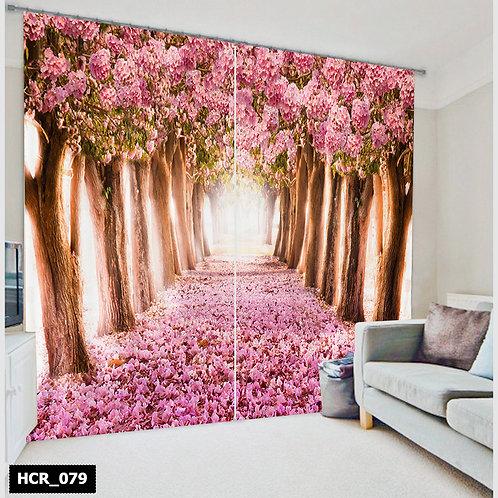 Spring flowers -Double Curtain - 300 Cm*260 Cm