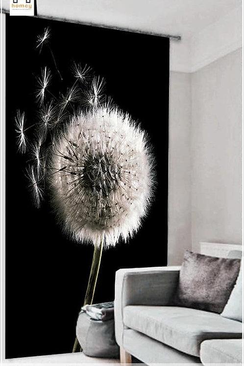 3D Flower - Double Curtain - 300 Cm*260 Cm - Multi color