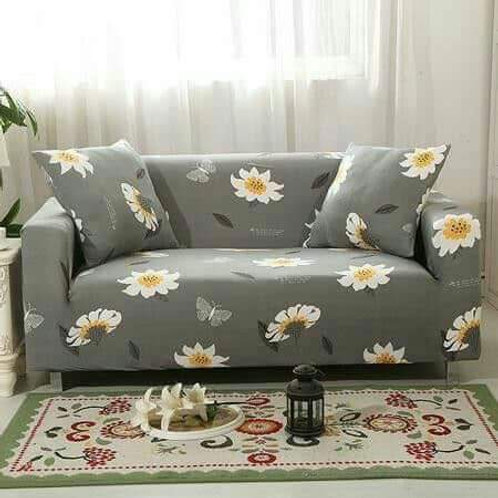 Furniture cover- flower-grey