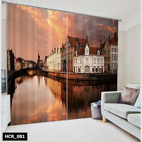 3D Venice Double Curtain - 300 Cm*260 Cm - Multicolor
