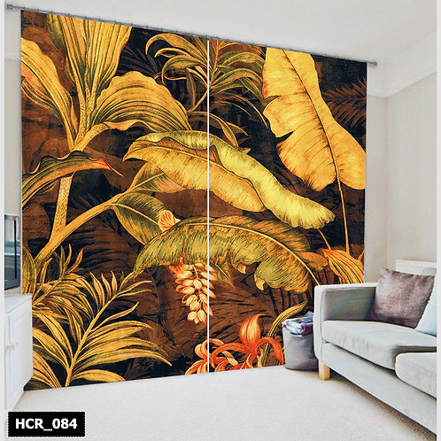 spring Trees leafs Double Curtain - 300 Cm*260 Cm - Multi color