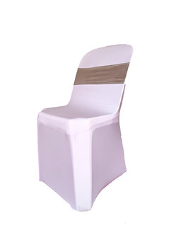White / Black Chair Cover for Bistro Chair