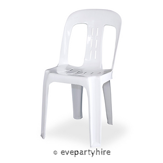 Chair Bistro White Plastic