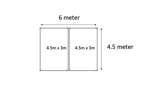 4.5m x 6m Pop up Marquee