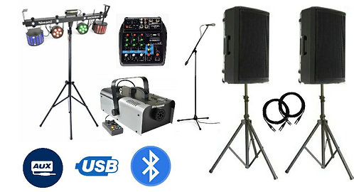 Complete DJ Party * Sound * Lights * Mic * Mixer * Fog * Package