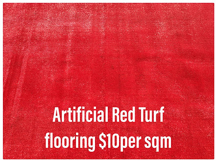 Marquee Flooring - Red Artificial Turf Carpet - Various Size - Per SQM