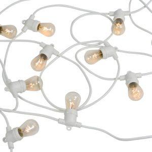 Festoon Lights 20pcs Bulb White Cable