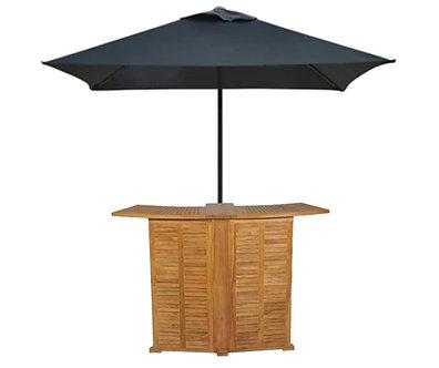 Portable Bar Serving Table with Umbrella hire
