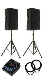 2 x Professional Sound Speakers with Stand