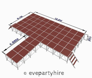 Indoor Large Stage with Ramp & Stair