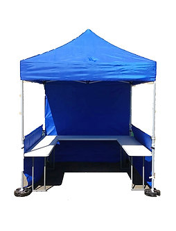 Market / Fete Stall  2.4mx2.4m with side Table & Half wall