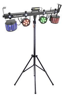 All-in-One Disco DJ lights ( PAR - DERBY - STROBE - LAZER ) with Stand