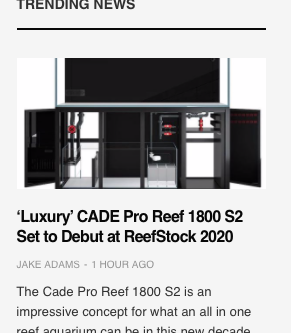CADE Pro Reef S2 to make it's debut at ReefStock USA