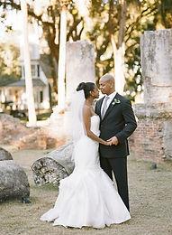 African-American bride and African-American groom