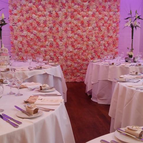 reception decor flower wall