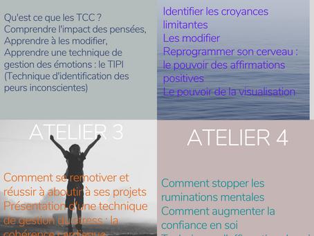 GESTION DU STRESS : Ateliers de groupe en ligne  RETROUVER LA SERENITE AVEC LES TCC,