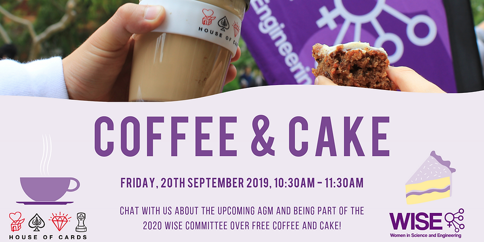 WISE Free Coffee and Cake (Week 8)