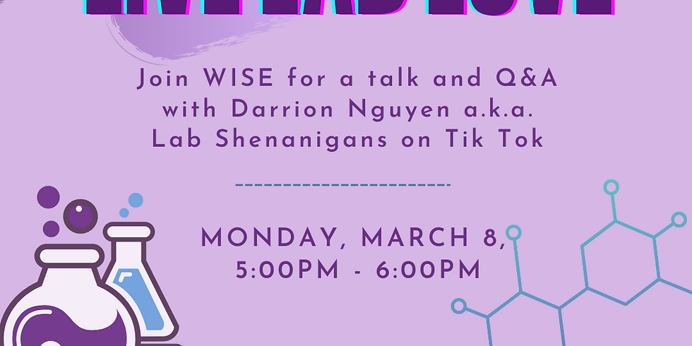 Live, Lab, Love talk and Q&A with Darrion Nguyen