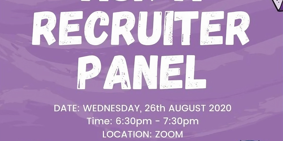 Ask a Recruiter Panel (With the Faculty of Science)