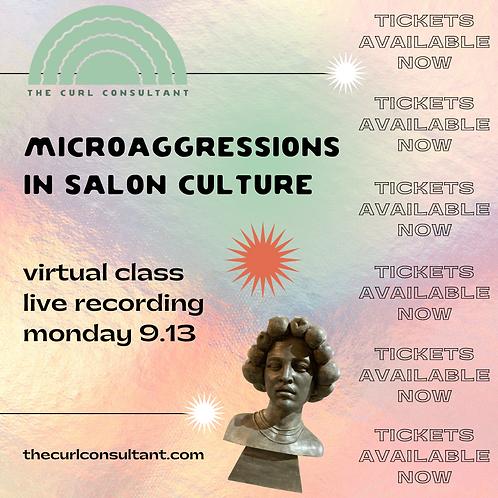 Microaggressions In Salon Culture Virtual Class