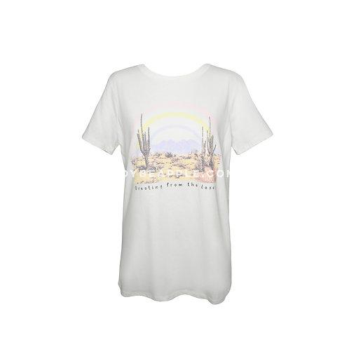 Tshirt desierto y arcoiris ivory