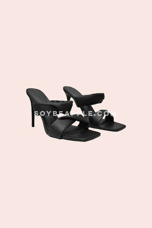 Zapato doble tira negro