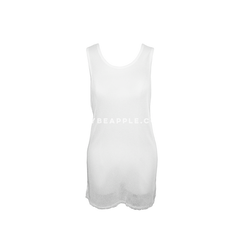 Blusa tank top mesh blanca