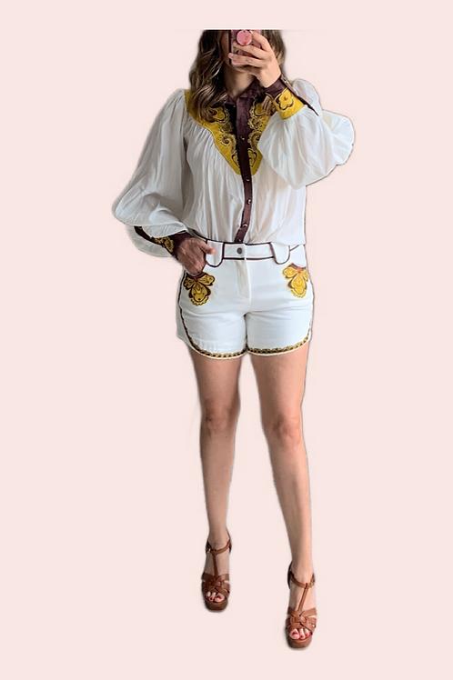 Set blusa y short vaquero