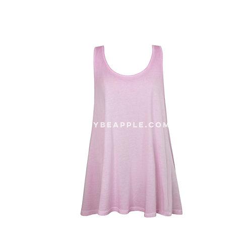 Blusa sin mangas cruzada espalda lila