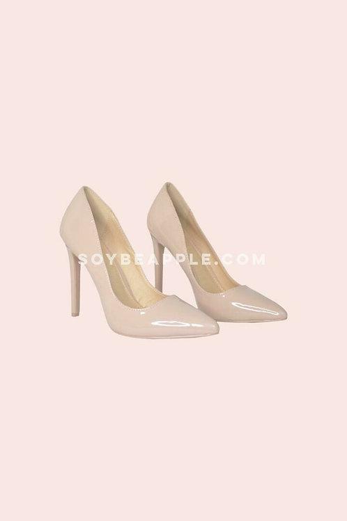Zapatos punta charlo nude