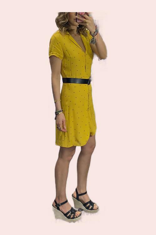Vestido corto botones