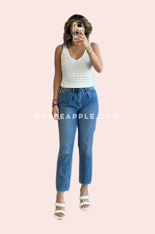 Jeans corte mom