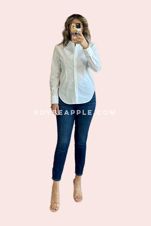 Blusa blanca botones open back
