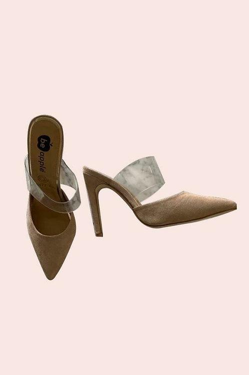 Zapatos punta con tira vinil