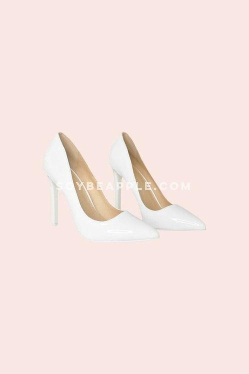 Zapatos punta charlo blanco