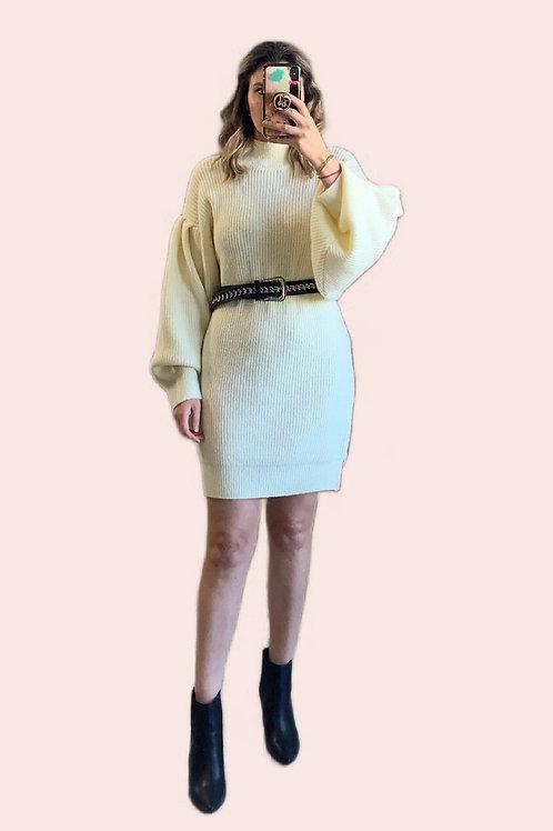 Sweater dress ivory