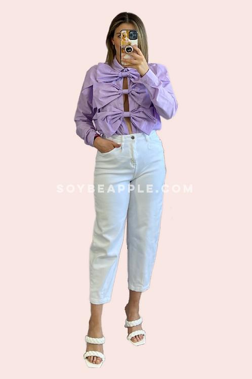 Blusa moño lila