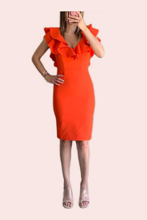 Vestido olanes escote espalda en V