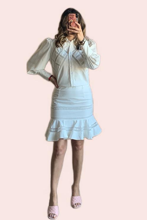 Set blanco blusa y falda