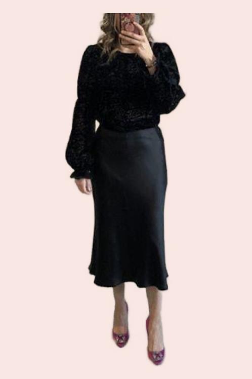 Blusa terciopelo negra