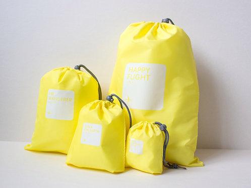 Набор мешочков для багажа желтый