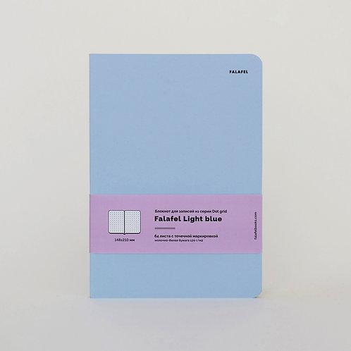Блокнот в точку Falafel Light blue A5
