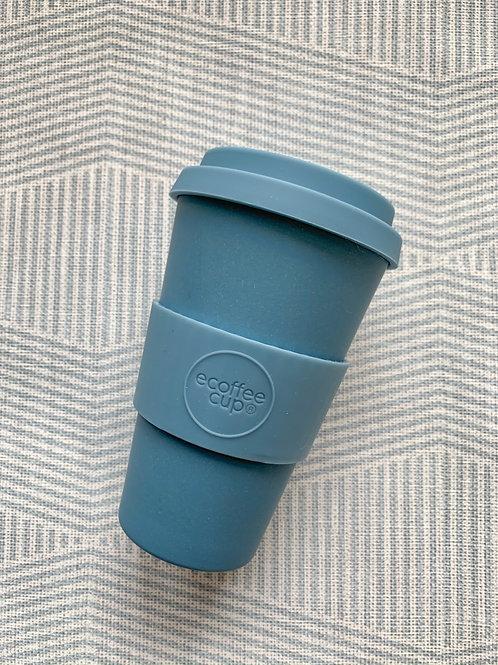 Ecoffee экостакан из бамбука сине-серый