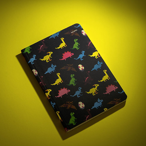 Блокнот в точку Falafel Dinosaurs A5