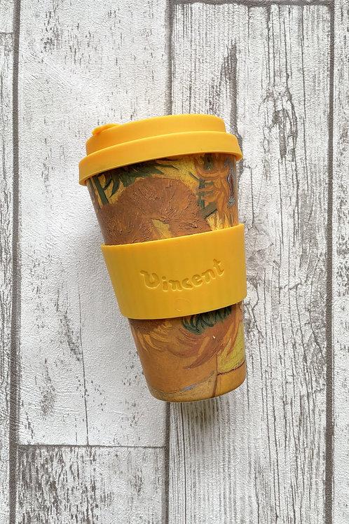 Ecoffee cup 400мл Подсолнухи