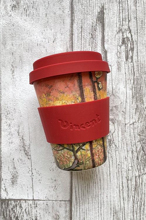 Ecoffee cup 350мл Цветущая слива экостакан из бамбука