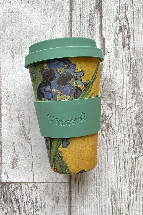 Ecoffee cup 400мл Ирисы экостакан из бамбука