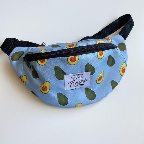 Поясная сумка TRAVEL Авокадо голубой