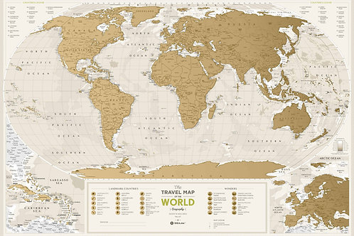 Скретч-карта 1dea.me Geography
