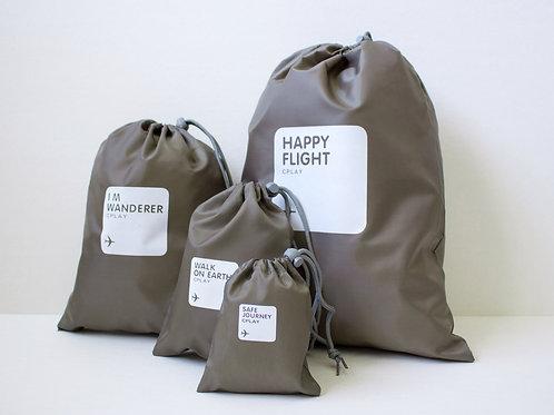 Набор мешочков для багажа коричневый